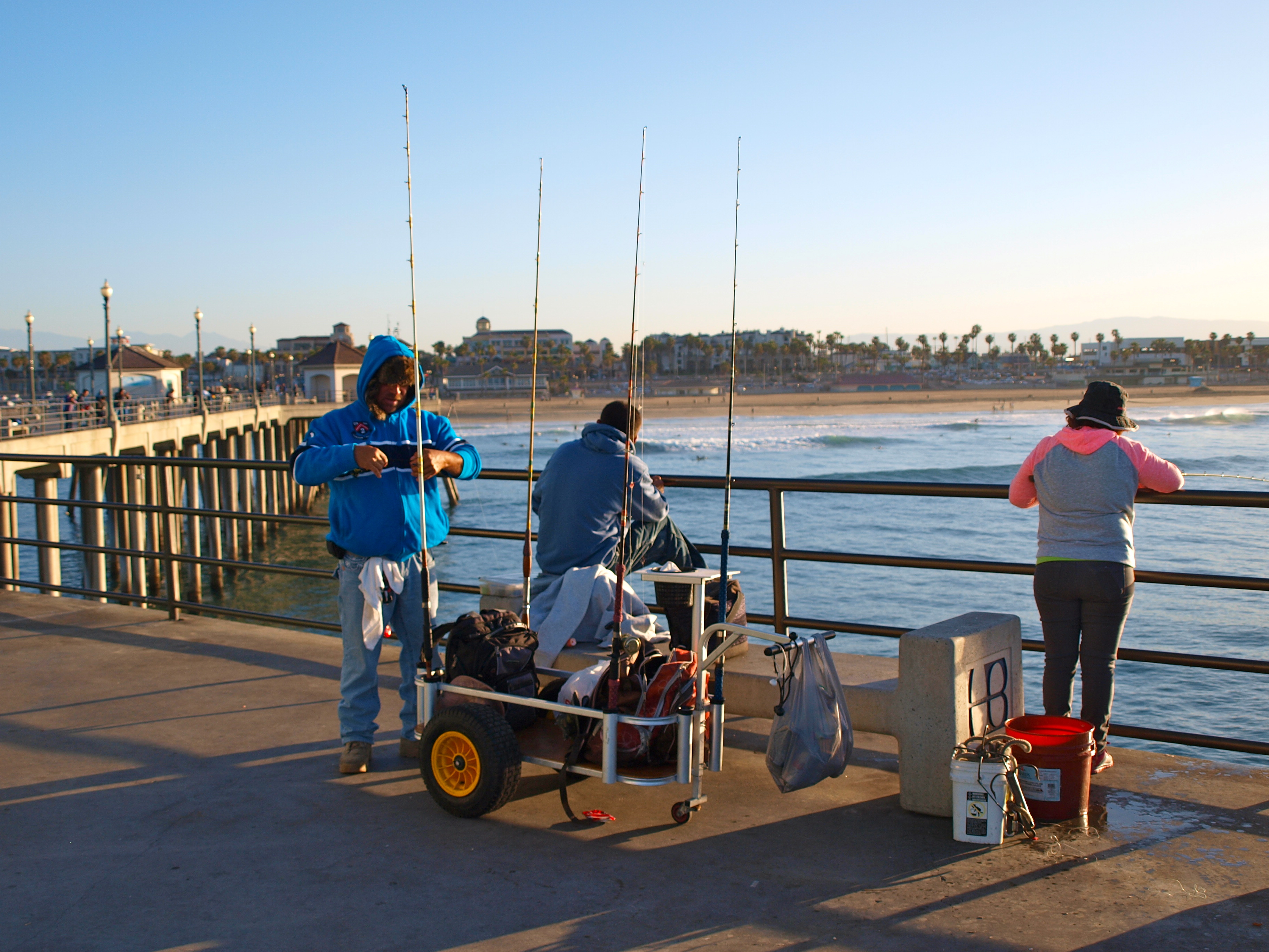 Huntington Beach Pier Fishing In