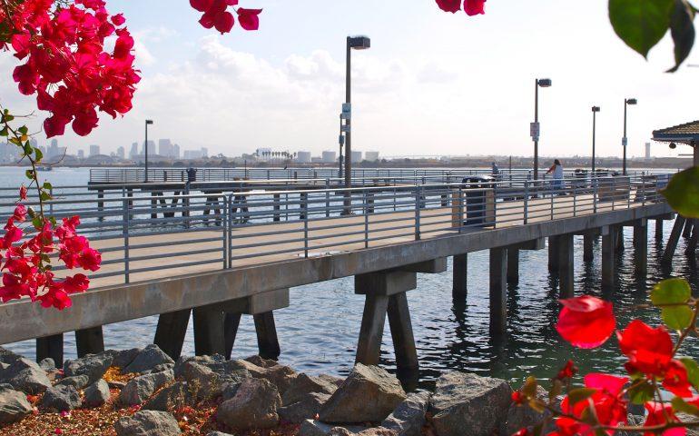 Shelter Island Pier — San Diego - Pier Fishing in California